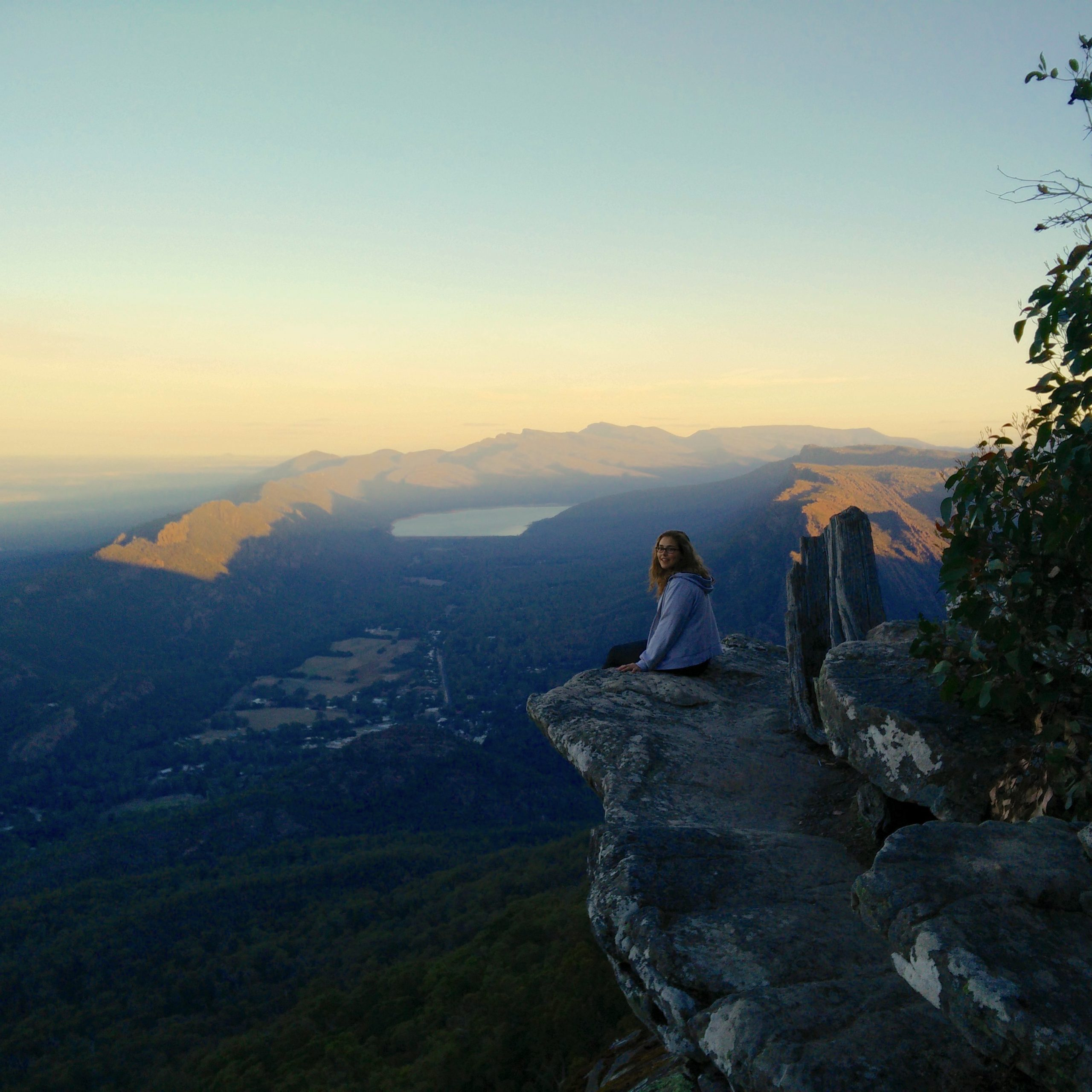 A girl overlooking the Grampians National Park
